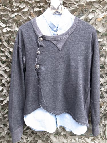 傳 x softs black indigo cardigan