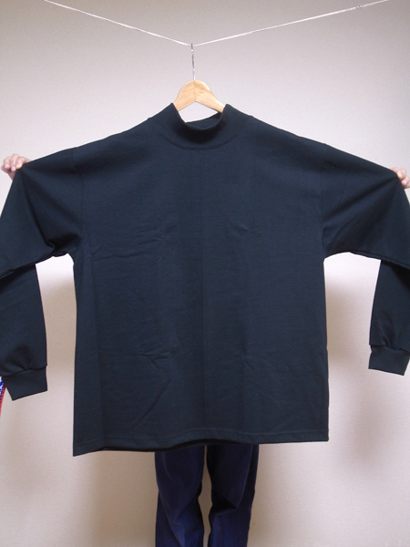 camber mock neck L/S T shirt big size
