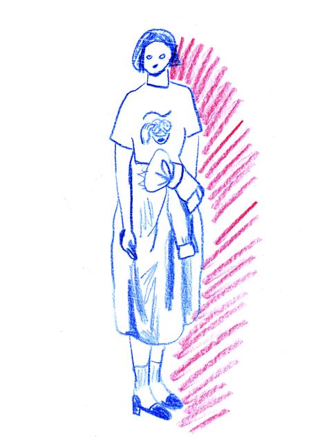 softsの服と會本久美子 1